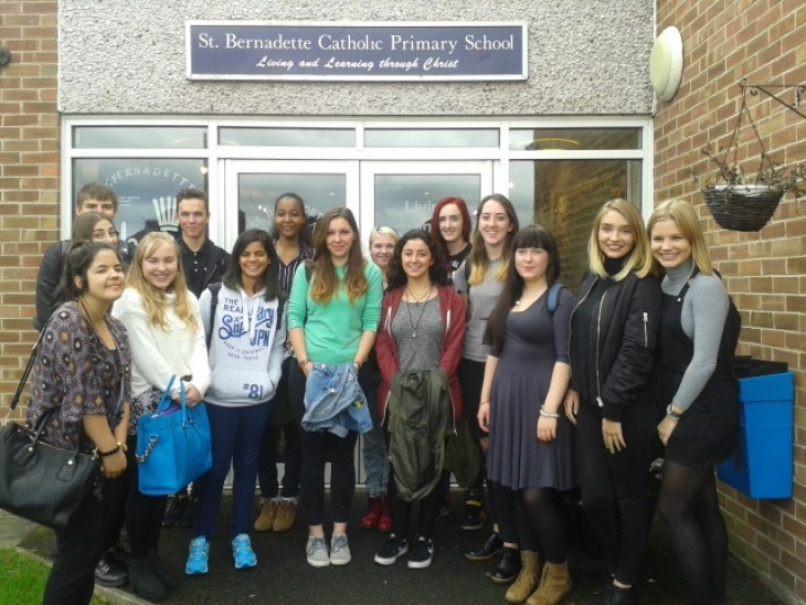 Work Experience: Students teach at primary School