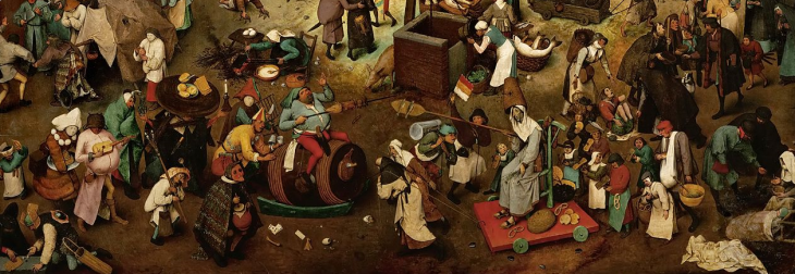 The Fight between Carnival and Lent (Peter Bruegel, 1559)