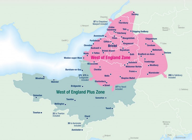 West of England Map