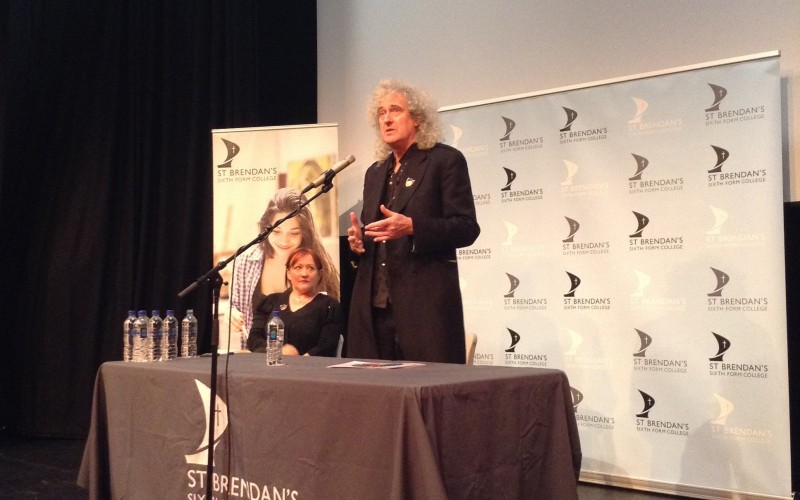 Brian May discusses the importance of voting during the general election