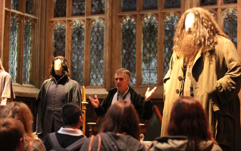 Meeting Hagrid in the Great Hall.
