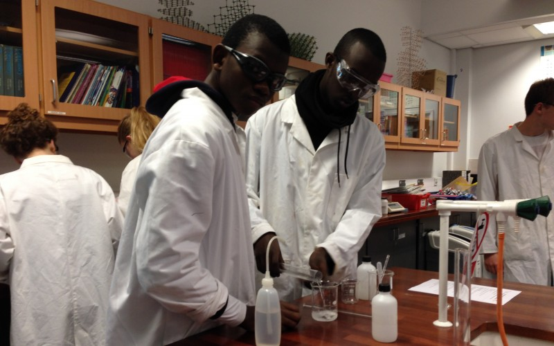 Chemistry Students Practical Class