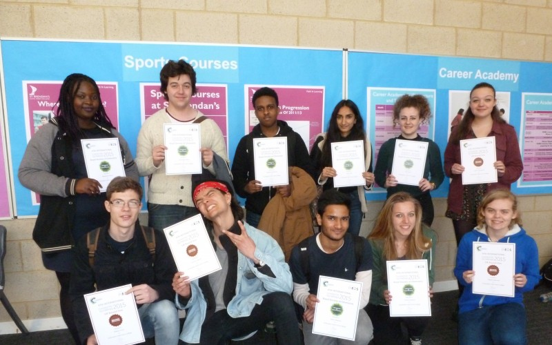 Students with Certificates for Chemistry Competitions